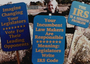 Karen_Kline_with_signs_protesting_IRS 300